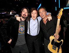 Dave Grohl, Paul McCartney, Bruce Springsteen
