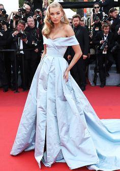 Best Dressed Stars on Cannes Red Carpet 2017 - Elsa Hosk in a Cinderella-esque dress