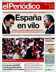 Los Titulares y Portadas de Noticias Destacadas Españolas del 14 de Julio de 2013 del Diario El Periódico ¿Que le parecio esta Portada de este Diario Español?