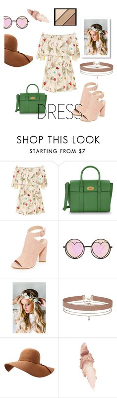 """""""Off the Shoulder Dress"""" by stephanie-barnett ❤ liked on Polyvore featuring Fendi, Mulberry, Kendall + Kylie, Betsey Johnson, Emily Rose Flower Crowns, Miss Selfridge, Maybelline and Elizabeth Arden"""