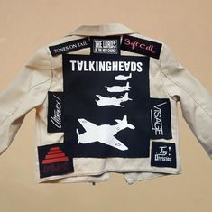 Talking heads back patch new wave post punk art punk backpatch Printing Ink, Screen Printing, Large Envelope, Punk Art, Back Patch, Post Punk, Sew On Patches, Black Print, Adidas Jacket