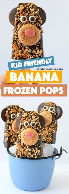 These Frozen Banana Chocolate Pops are a simple way to honor your favorite childhood treat with a new and fun twist on them!
