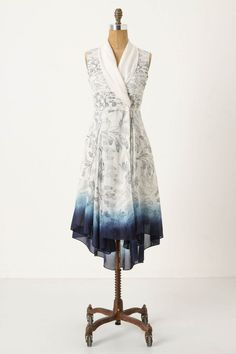 Approaching Blue Dress from Anthropologie. Really beautiful. #anthropologie $168