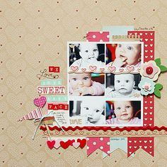 Love this!  a cute layout by Becky ~ One Scrappin' Mama