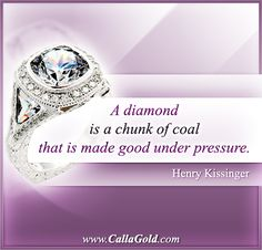 Gems of Wisdom: Henry Kissinger Quote Calla Gold Jewelry