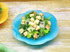 Miniatura scala 1:12 insalata con formaggi e di PiccoliSpazi