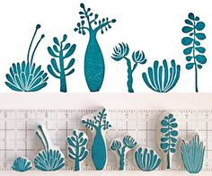 """Hand Carved Stamps """"Succulent collection"""" - Geninne"""