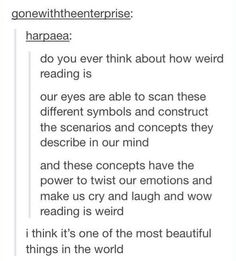 tumblr explains why reading is weird