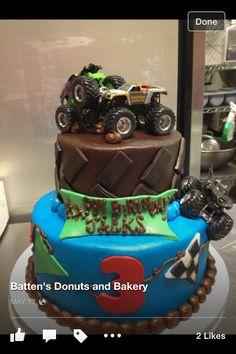 Monster truck cake. Batten's Bakery in Paragould, AR.