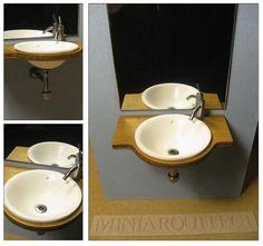 bath sink 01 (1/12 miniature)