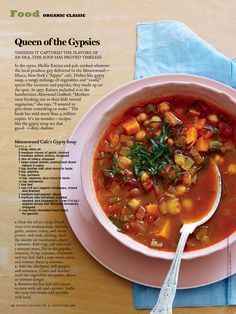 Moosewood Cafe's Gypsy Soup