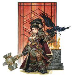 A_female_dwarf- war-hammer and patterns Dark Fantasy, Fantasy Dwarf, Fantasy Rpg, Medieval Fantasy, Fantasy Heroes, Dnd Characters, Fantasy Characters, Female Characters, Fantasy Portraits
