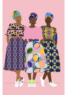 African Beauty - Beautiful Illustration by Céleste Wallaert Art And Illustration, Art Africain, African Art, African Beauty, African Prints, African Style, African Patterns, African Women, Mode Inspiration