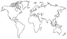 simple shap flat world map - Google Search