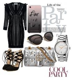 """""""party"""" by sarahf2ashionista ❤ liked on Polyvore featuring IRO, Gucci and Rebecca Minkoff"""