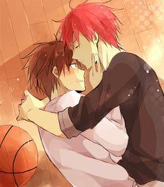 Kuroko's Basketball (Kuroko no Basuke) - Seijuurou Akashi x Kouki Furihata - AkiFuri