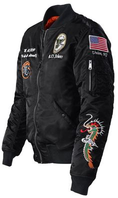 9dc0dd6eb 9629 - Men's Nylon Flight Jacket With Patches Stylish Mens Fashion, Stylish  Menswear, Stylish