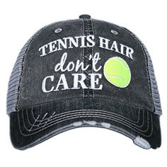 Tennis Hair Don't Care Women's Trucker Hats Caps by Katydid >>> Check out the image by visiting the link.
