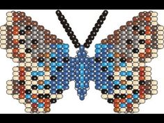 Бисерная Бабочка Голубянка(плетение на проволоке) - YouTube