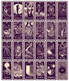 James R Eads, easily my new favorite artist, designed a limited ed. tarot deck. The illustrations all flow between cards and the whole deck comes in a wooden box. I NEED THIS