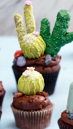 Chocolate Cactus Cupcakes