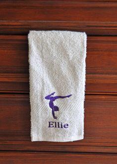 24405b7522c6 Personalized Gymnast Towel 1 ST009    Gymnastics Gift    Gymnastics