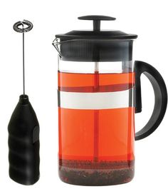 GROSCHE Cafe Au Lait Coffee and Tea Lover's Gift Set. 34 oz French Press and Milk Frother Wand Black > Want to know more, visit the site now : French Presses