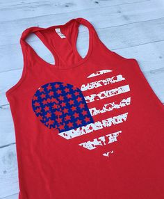 ae9e9acab9 Red white blue Patriotic Shirt 4th of July Tank Top Fourth Of July Shirts