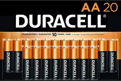 Amazon.com: Duracell - CopperTop AA Alkaline Batteries - long lasting, all-purpose Double A battery for household and business - 20 Count: Electronics