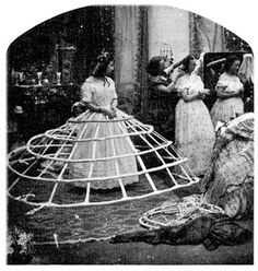 Photo Greeting Card (other products available) - The hoops used to support the crinoline dress during Victorian times. (Photo by London Stereoscopic Company/Getty Images) - Image supplied by Fine Art Storehouse - inch Greetings Card made in the UK Historical Costume, Historical Clothing, Historical Dress, Fashion History, Fashion Art, Dress Fashion, Fashion Humor, Fashion Women, Fashion Trends