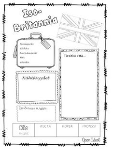 Open ideat Teaching Aids, Teaching English, Great Britain, Geography, Around The Worlds, Bullet Journal, Europe, Science, School