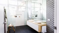 Apt 6 DD Ensuite - the block glasshouse 2014 Ensuite Bathrooms, Laundry In Bathroom, Bathroom Renos, Bathroom Inspo, Bathroom Interior, Bathroom Inspiration, Small Bathroom, The Block Bathroom, Bathroom Showers