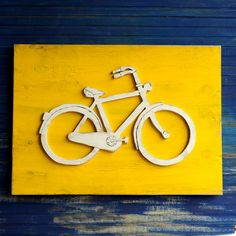 Bicycle Art Wooden Bike Sign Large Bicycle Wall by SlippinSouthern, $89.00