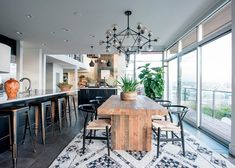 Moroccan rug in this layout beautiful. Love the Moroccan industrial rustic design