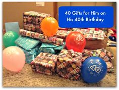 This is my guide to putting together forty birthday presents for his fortieth birthday. I did this for my husband and I was surprised by how easy it was to find 40 presents