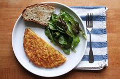 Grated Potato and Cheese Omelette
