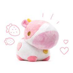 Kawaii Plush, Cute Plush, Cute Stuffed Animals, Dinosaur Stuffed Animal, Pink Cow, Kawaii Room, Cute Toys, Cute Pictures, Crafts
