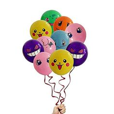 """21 Count Pokemon Latex Balloons 12"""" Inches Birthday Party..."""