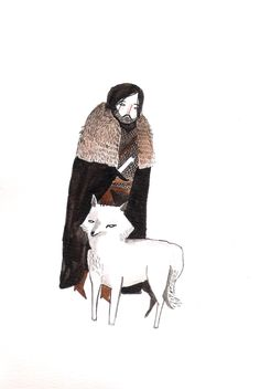 Jon Snow & Ghost by Dick Vincent Illustrations