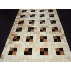 Modern Rugs Patchwork Neutral Box Area Rug Rug Size: 6' x 9'