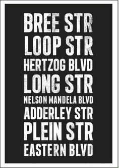 Cape Town Streets Poster by Paradise On Earth, Local Attractions, Wish You Are Here, Move Mountains, Most Beautiful Cities, Once In A Lifetime, My Town, No One Loves Me, Cape Town