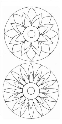 Poppy Mosaic Patterns for Beginners Mandala Art, Mandala Painting, Mandala Pattern, Flower Mandala, Stained Glass Patterns, Mosaic Patterns, Mandala Coloring, Colouring Pages, Cd Crafts