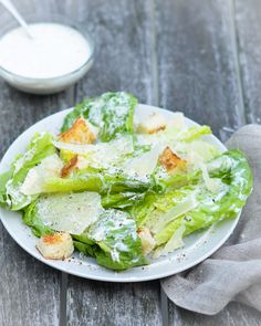 Homemade Caesar Salad Dressing. Meganzer - make with no anchovies paste and extra Worcestershire Homemade Caesar Salad Dressing, Caesar Dressing Recipe No Anchovies, Easy Caesar Salad Dressing, Homemade Salad Dressings, Salad Dressing Recipes, Homemade Dressing, Cesar Dressing, Ranch Dressing, Coleslaw