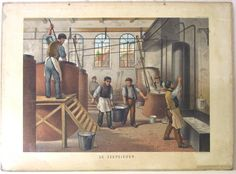 De zeepzieder  / Boiling Soap  (Scheepstra en Walstra)    In the old days all kind of illustrations like this were used in class in the Netherlands to explain the children about all kind of subjects, for instance the industry.