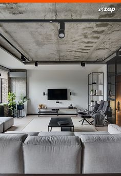 1001 breathtaking accent wall ideas for living room 2019 floral abstract wallpaper grey corner sofa accent wall white rug black coffee table The post 1001 breathtaking accent wall ideas for living room 2019 appeared first on Sofa ideas. Accent Walls In Living Room, Living Room Colors, Living Room Grey, Living Room Modern, Living Room Decor, Living Rooms, Design Loft, Deco Design, House Design