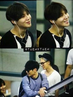 150815 Taemin, Minho Jonghyun - I'm sorry Taemin is so cute here . . . the chipmunk cheeks are back. . . You know Minho and Jonghyun are razing him about something.   Incheon International Airport to Taiwan.