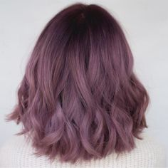 Lilac color hair