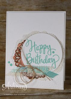 Stylized Birthday stamp, Stampin' Up!, Happy Birthday, Birthday, See more photos on my website. - StampinByTheSea.com