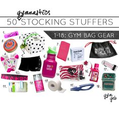 18 stocking stuffers that are perfect for a gym bag. 50 gymnastics stocking stuffer ideas total.