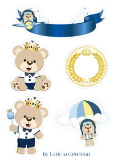 Topo urso First Birthday Parties, First Birthdays, Baby Shower Oso, Background Images For Editing, Baby Shower Centerpieces, Baby Cards, Paper Crafts, Teddy Bear, Clip Art